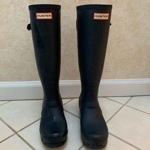 Hunter Original Tall Adjustable Back Rain Boots